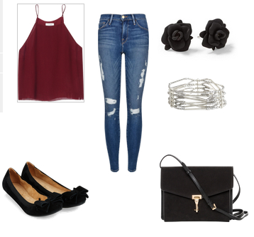 Fazendomoda-look red e jeans